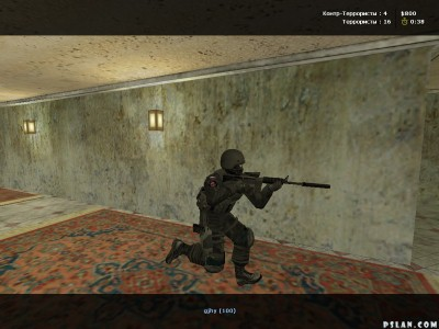 XTCS gameplay in de_inferno map, Counter-Terrorist's player.